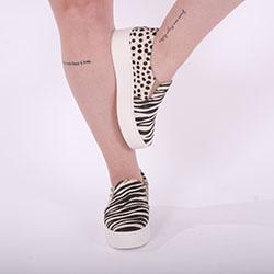 Tênis Ágata Slip On Zebra/Dálmata