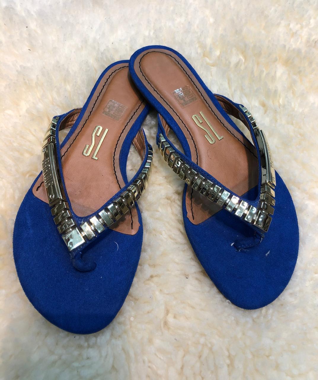 Rasteira Santa Lolla Azul