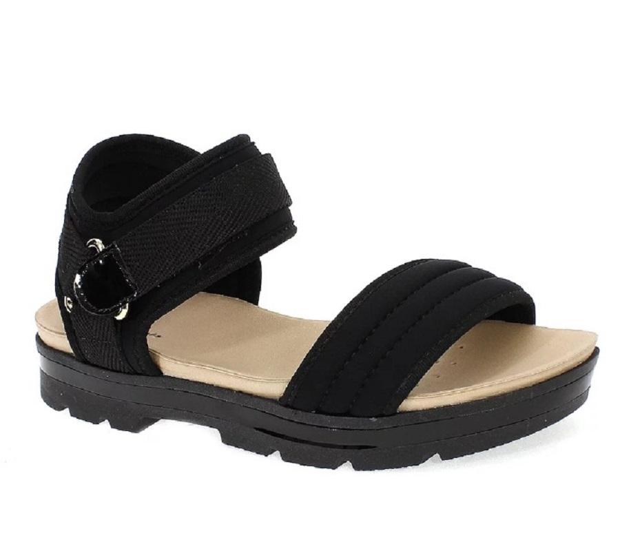 Sandália Flat Form Lycra  Feminina Preta Modare