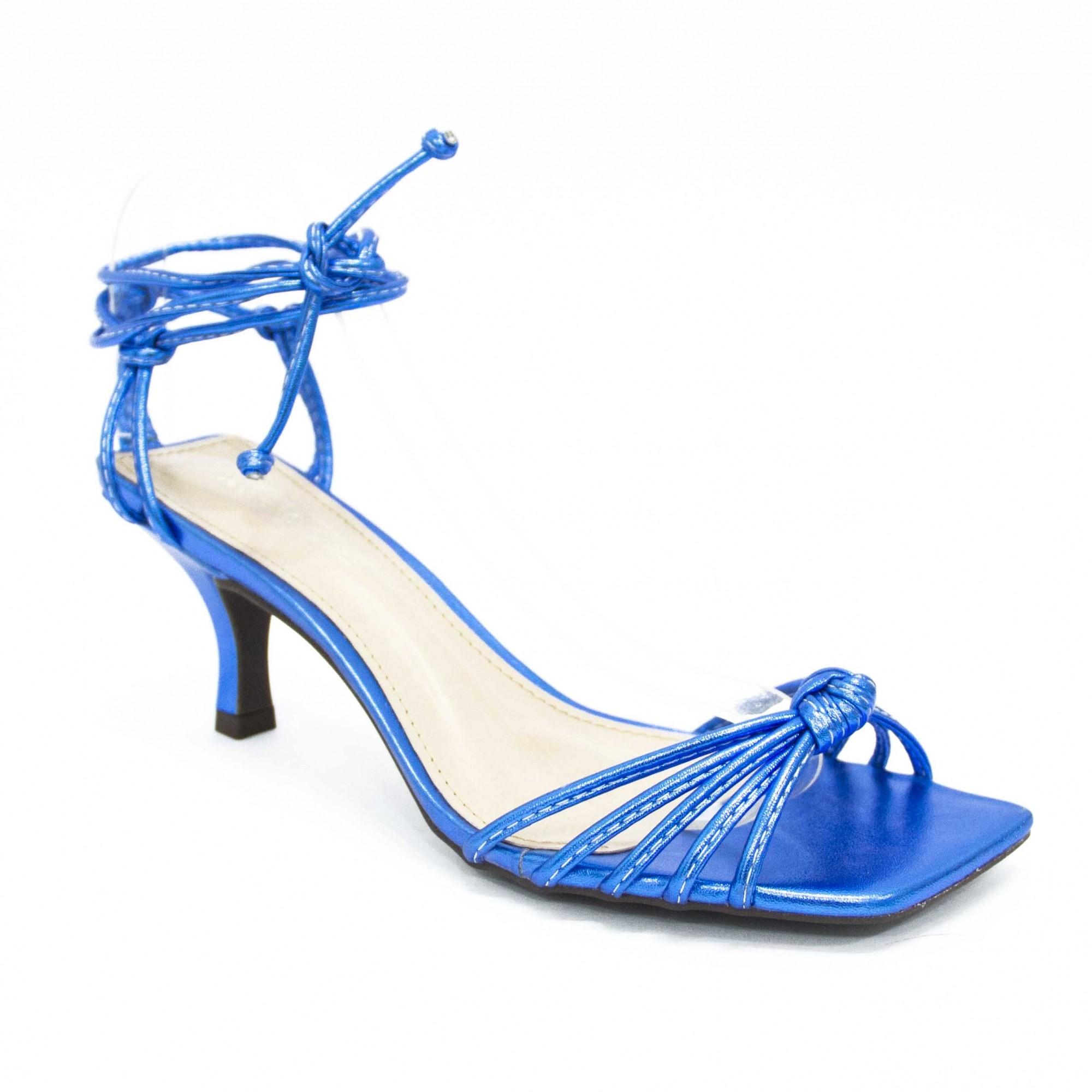 Sandália Maitê  Azul Metalizada by Deborah Munhoz