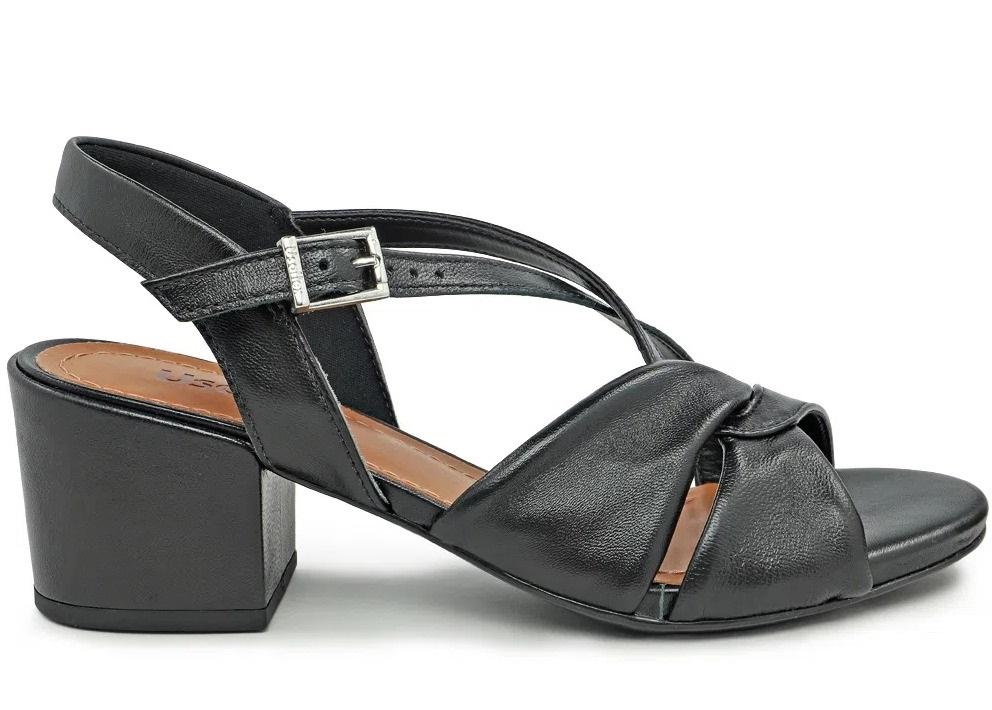 Sandália Pelica Preta Usaflex Ae0602