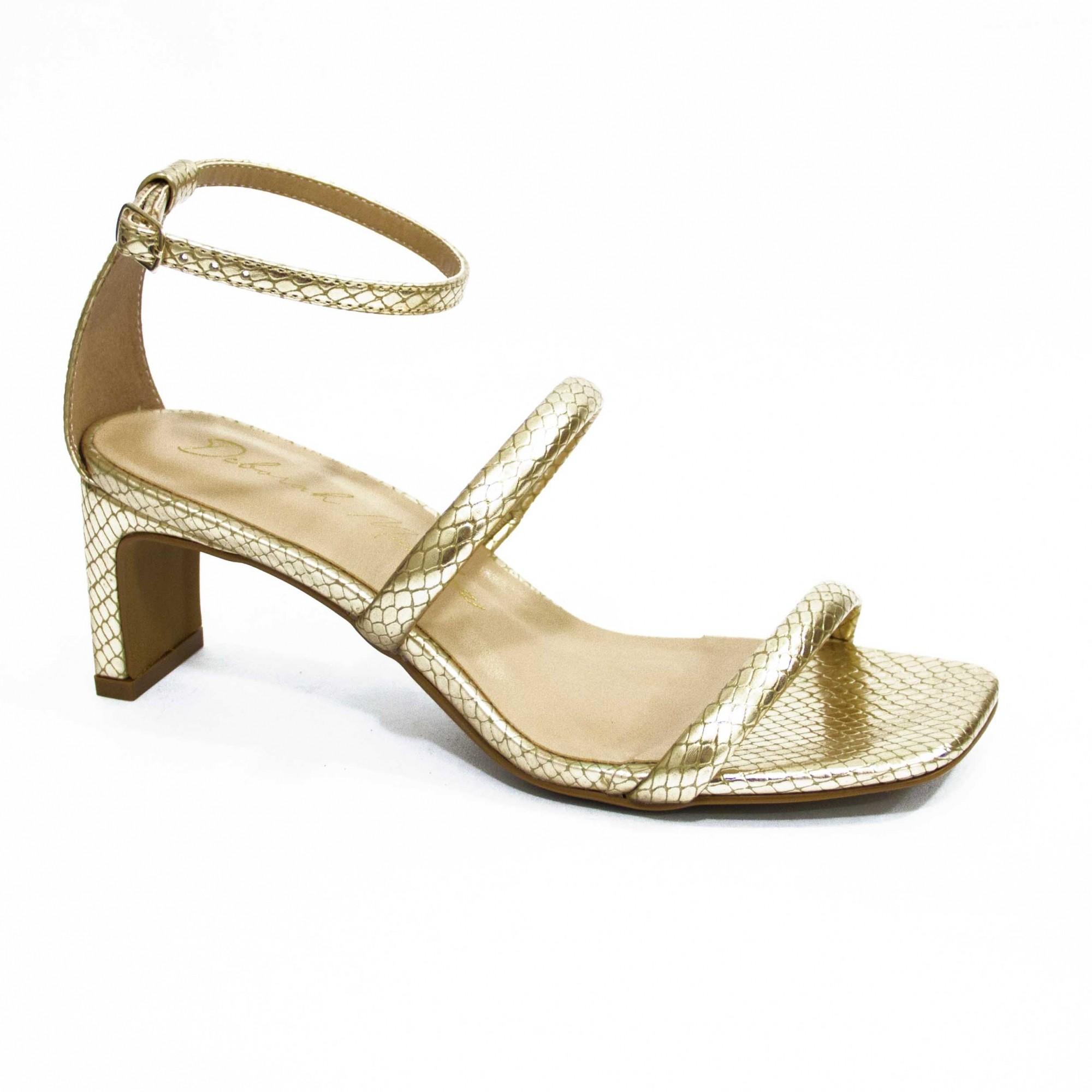 Sandália Shine Dourada By Deborah Munhoz