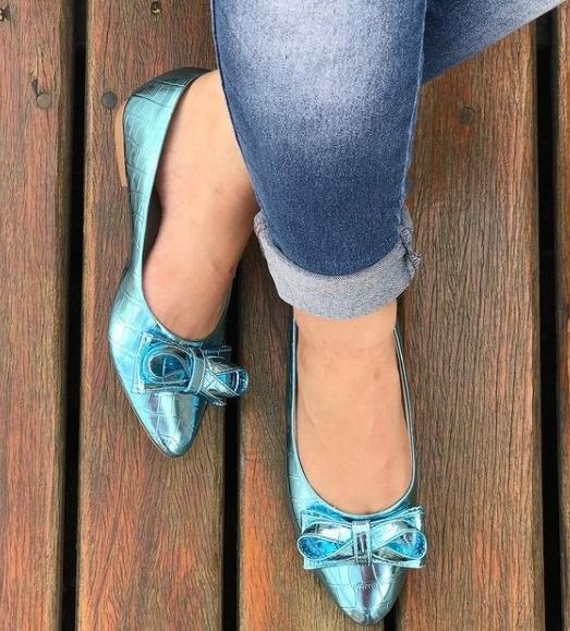Sapatilha  Yasmim Azul by Lolla Valentina