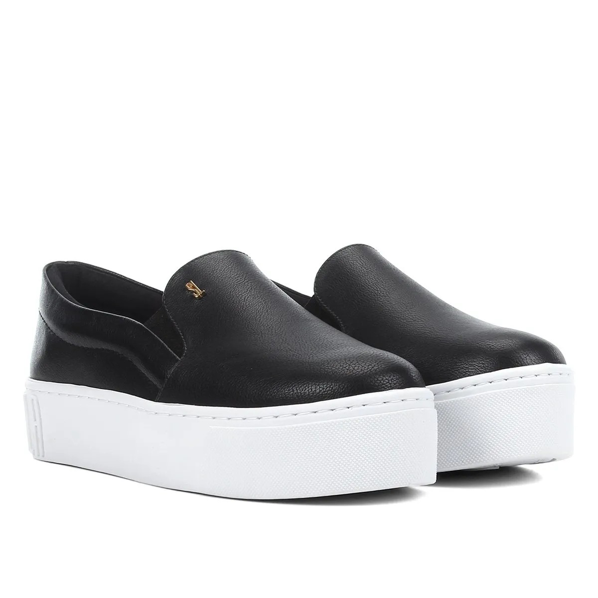 Slip On by Santa Lolla Preto Sola Alta