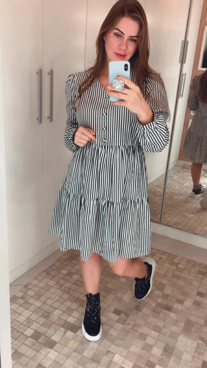 Vestido Larissa Preto Deborah Munhoz