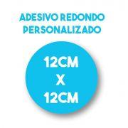 Adesivo 12x12 redondo