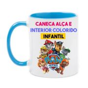 Caneca com Alça e Interior Colorida 325ml Tema infantil