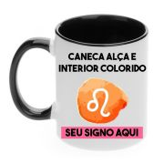 Caneca com Alça e Interior Colorida 325ml Tema Signos