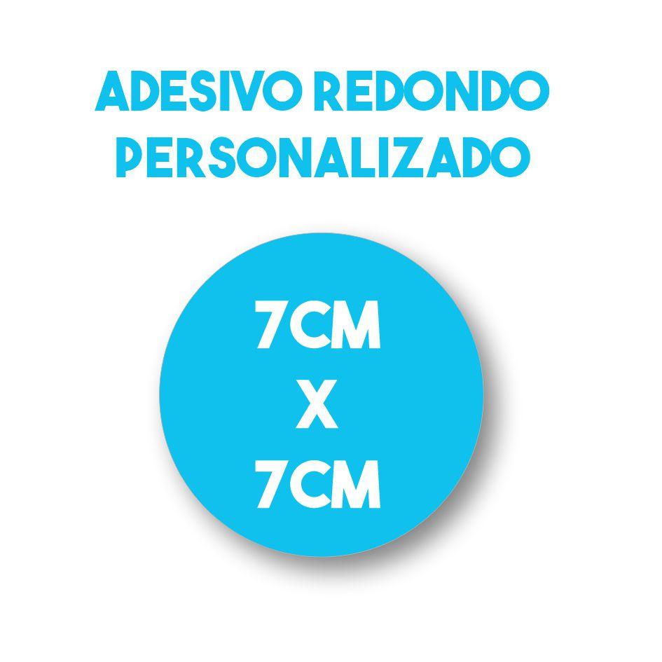 Adesivo 7x7 redondo