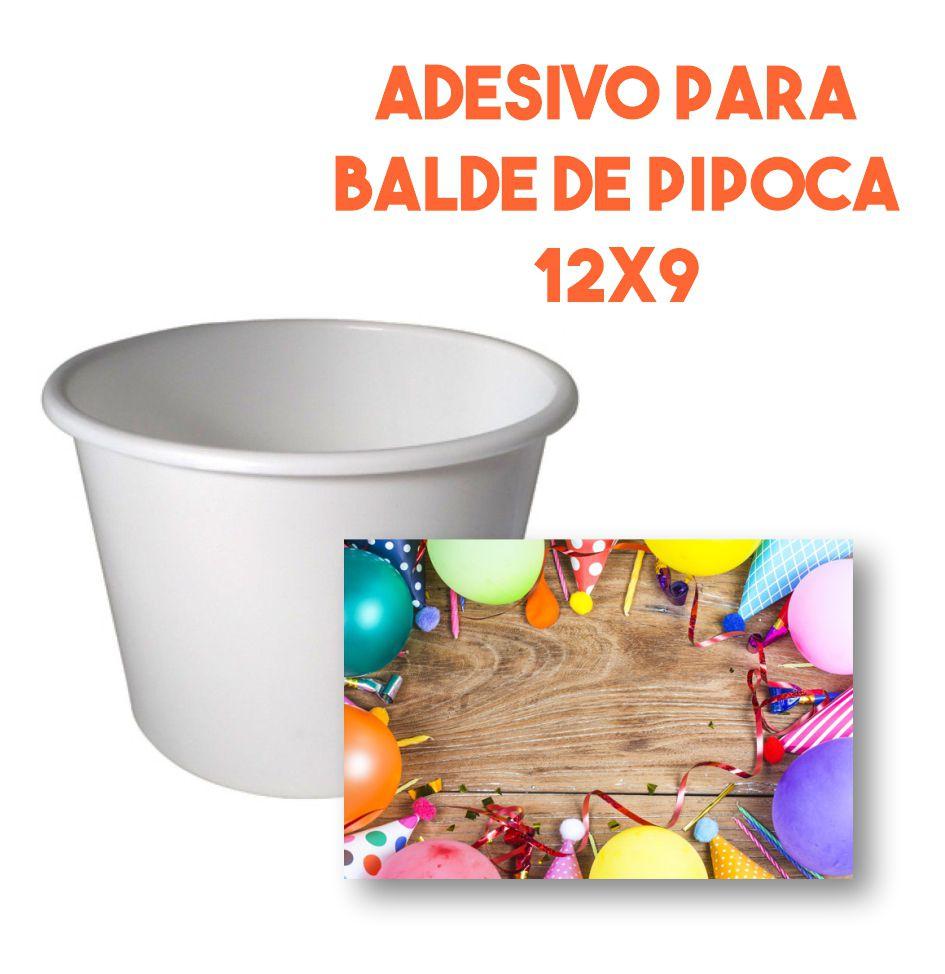 Adesivo para Balde de Pipoca 12x9