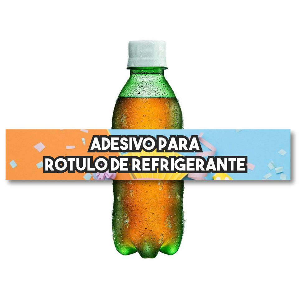 Adesivo Rotulo Refrigerante Festa 3,2x18