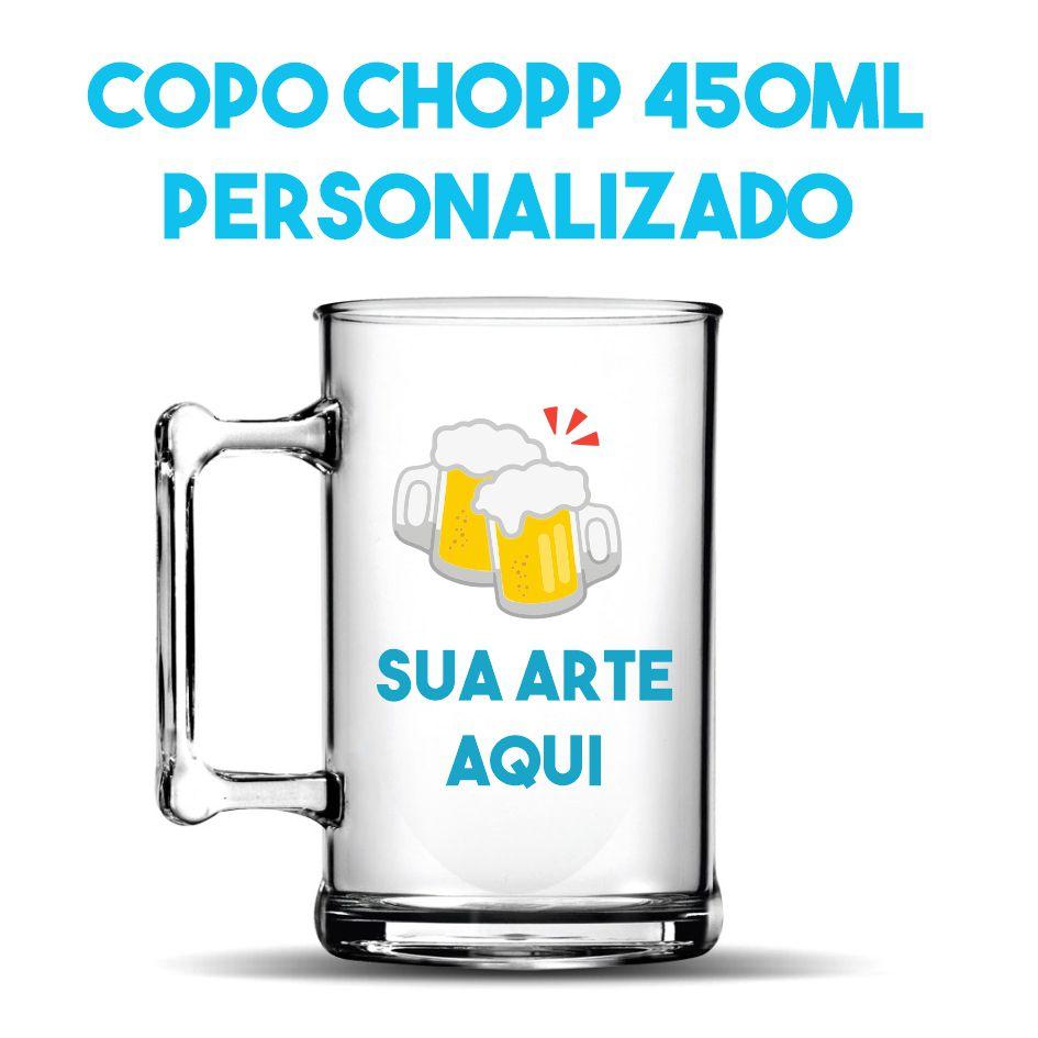 Caneca Chopp 450ml (gravação de um lado)