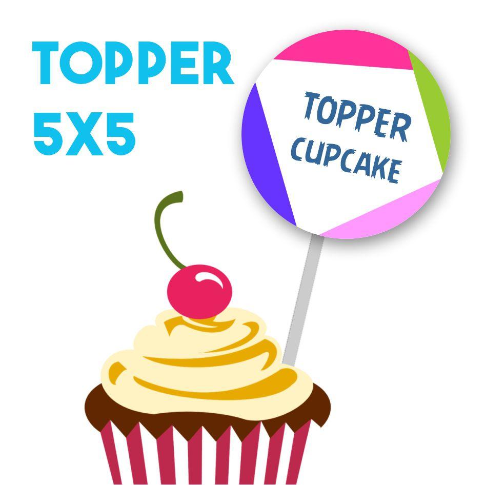 Topper Cupcake Personalizado até 5x5