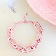 Pulseira de elos sextavado pink - PU6100P