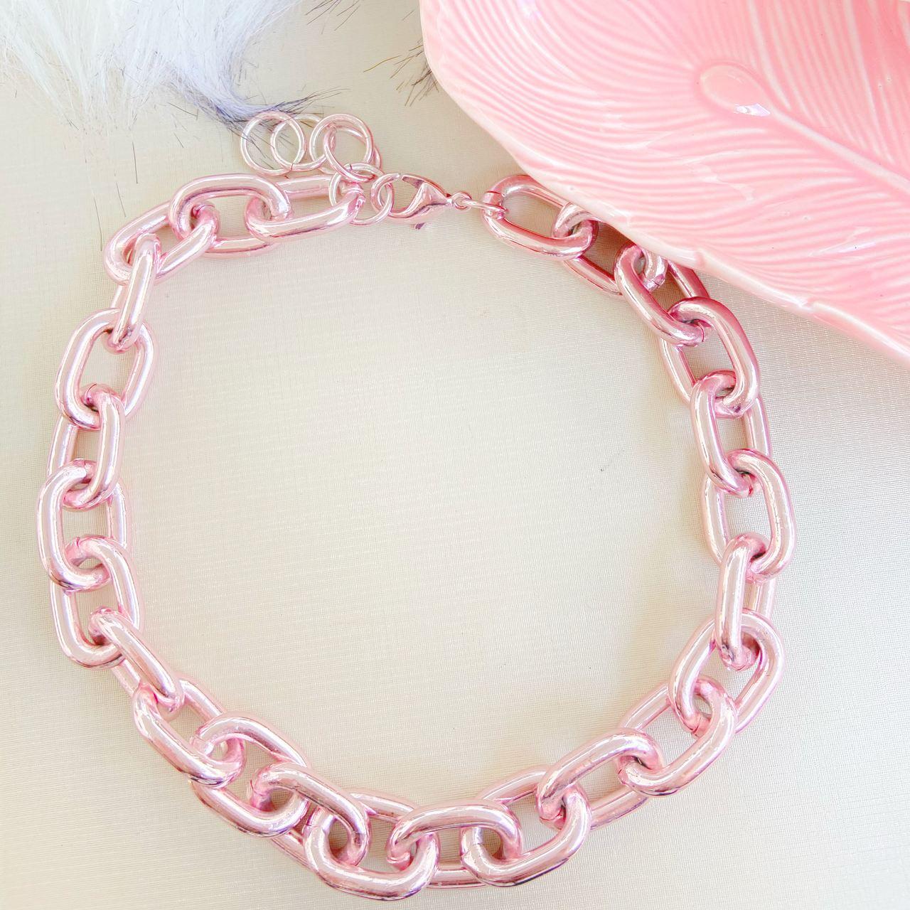Choker de elos pink - G5755P