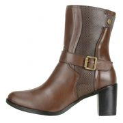 Bota DuduDias10 Cano Curto Minna 246 Chocolate