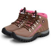 Bota MacShoes Adventure Trail 218 Marrom e Rosa