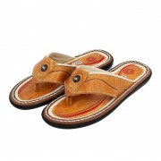 Chinelo BR2 Masculino 3000 Couro Bege