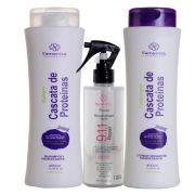 Kit S'amontté 01und Shampoo e Condicionador + Reconstrutor 911 - Selecione a fragrância