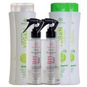 Kit S'amontté 2 unidades de cada - Shampoo + Condicionador + Reparador 9.1.1 - Selecione a fragrância