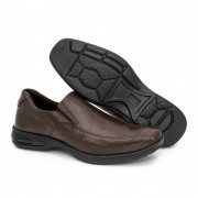 Sapato Masculino BR2 Social Comfort Liso 452 Marrom