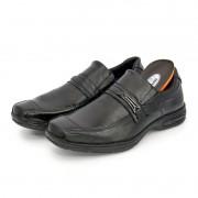 Sapato Masculino BR2 Social Comfort Liso Com Tira 454 Preto