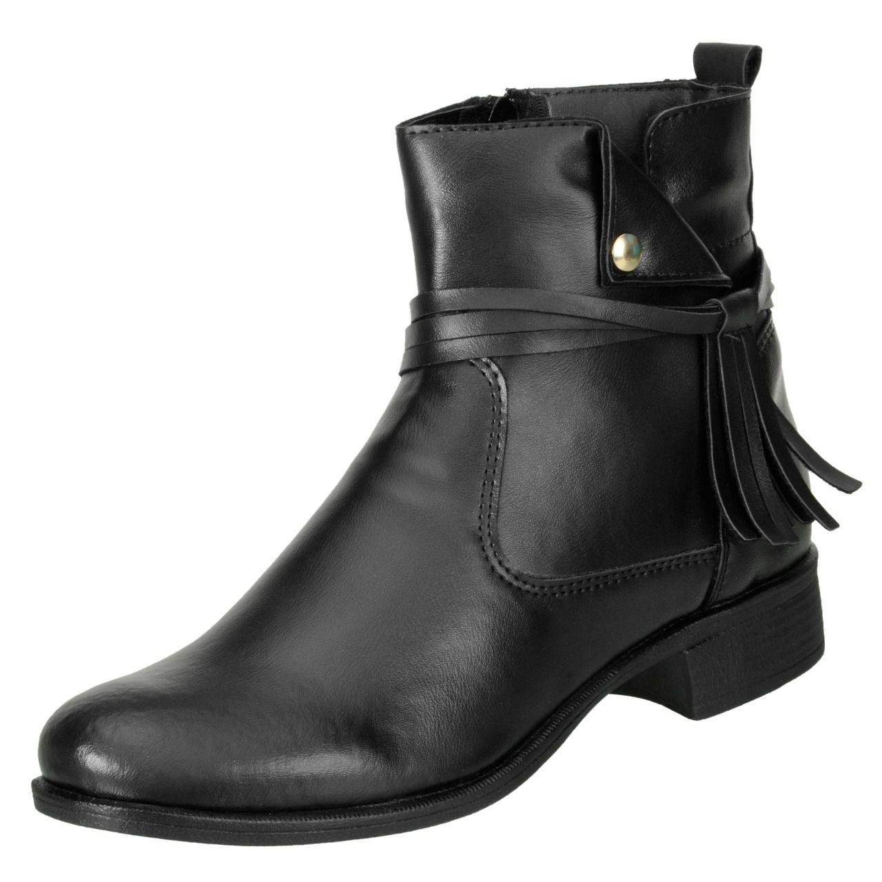 Bota Cano Curto DuduDias Ankle Boot 070 Couro Preto