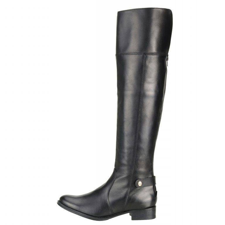 Bota Encinas Leather Montaria Over Knee 15516 Preta