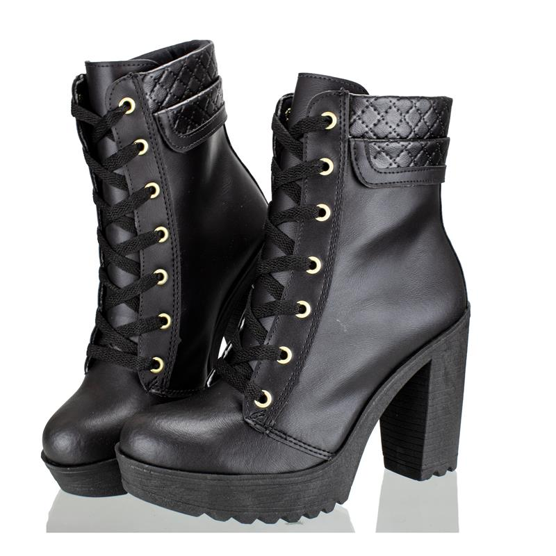 Bota Feminina Cano Curto Encinas Leather Fosco Preto