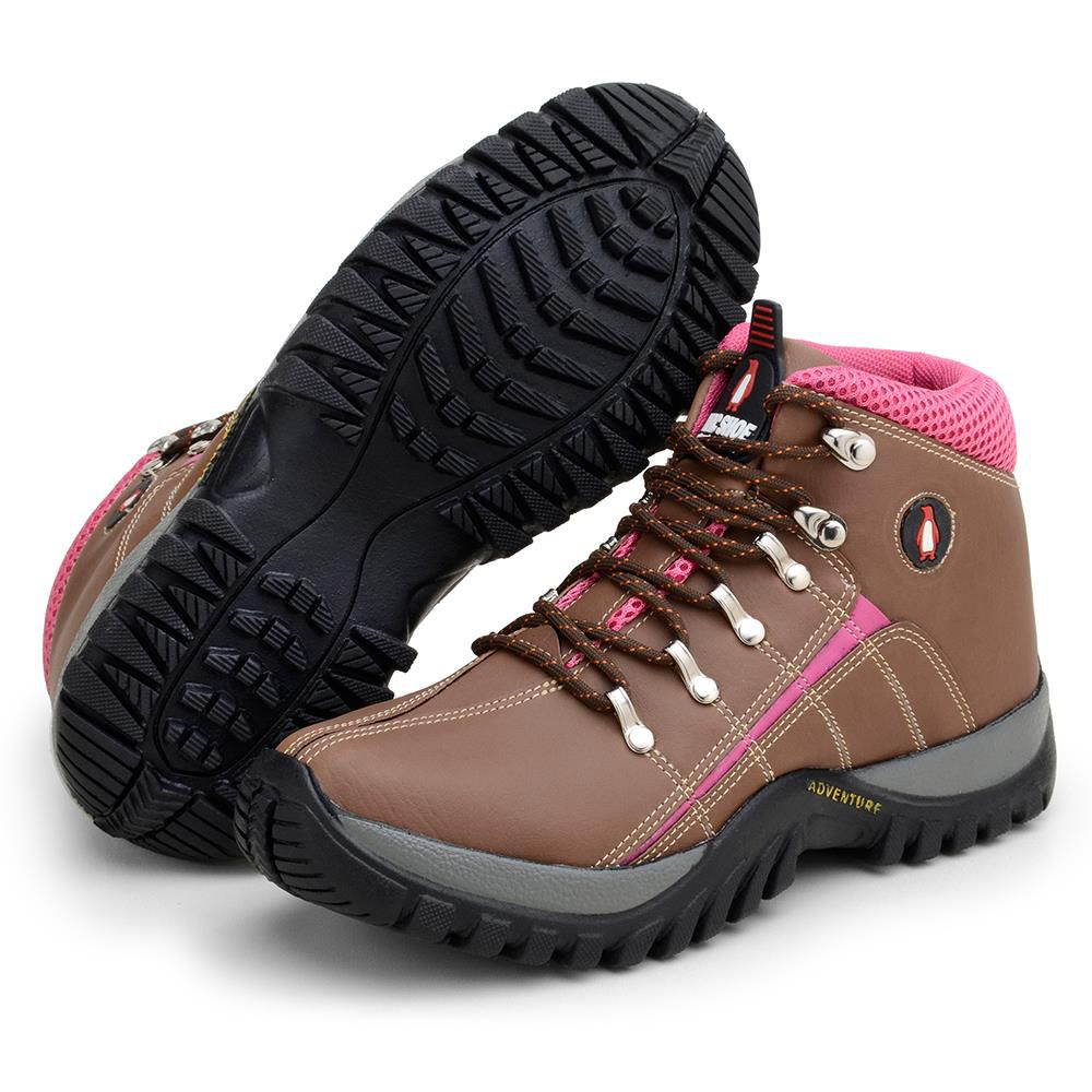 Bota MacShoes Adventure Trail 218 Marrom e Rosa