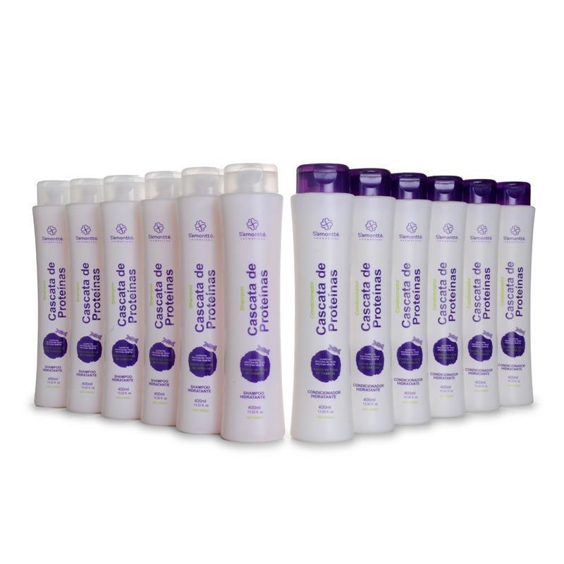 Kit 2 em 1 S'amontté 6 unidades de cada - Shampoo e Condicionador - Selecione a fragrância