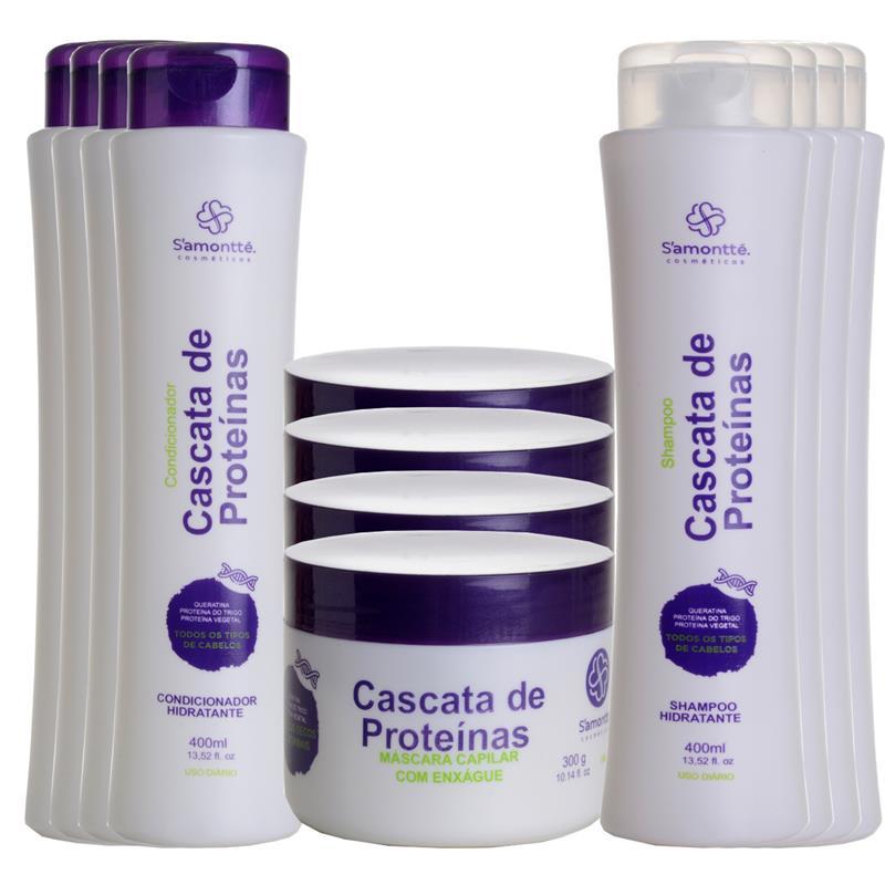 Kit 3 em 1 S'amontté 4und Shampoo + Condicionador + Máscara - Selecione a fragrância