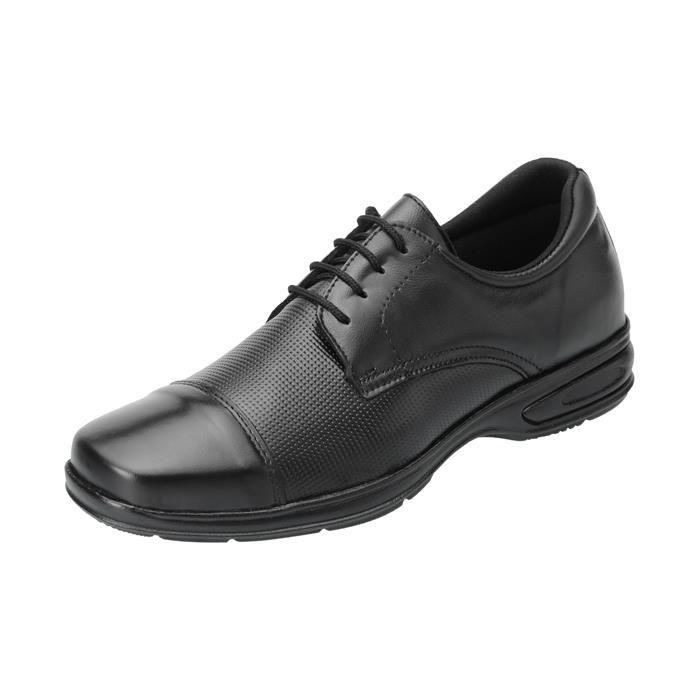 Kit 5in1 Sapato Social SLZ + Carteira + Par de meia + Cinto + Calçadeira - 5051 Preto
