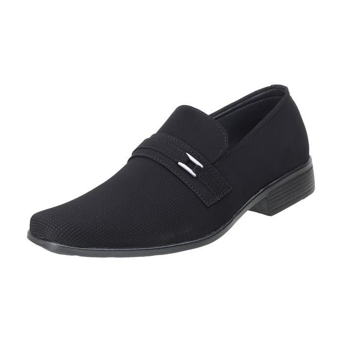 Kit 5in1 Sapato Social SLZ Nobuck Preto + Carteira + Par de meia + Cinto + Calçadeira 1101