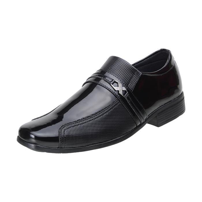 Kit 5in1 Sapato Social SLZ Verniz Preto + Carteira + Par de meia + Cinto + Calçadeira 1041