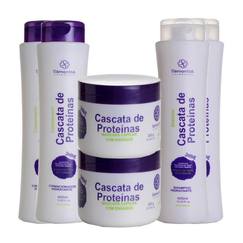 Kit S'amontté 2 unidades de cada - Shampoo +  Condicionador +  Máscara - Selecione a fragrância