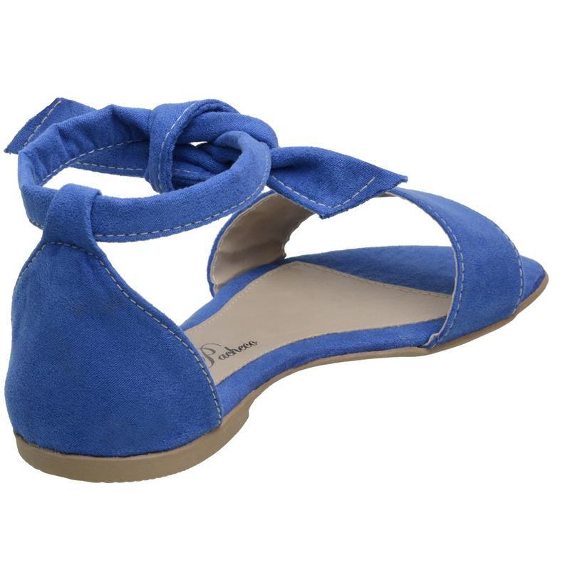 Rasteirinha Flavia Pacheco Sandália Confortável Azul - Az103