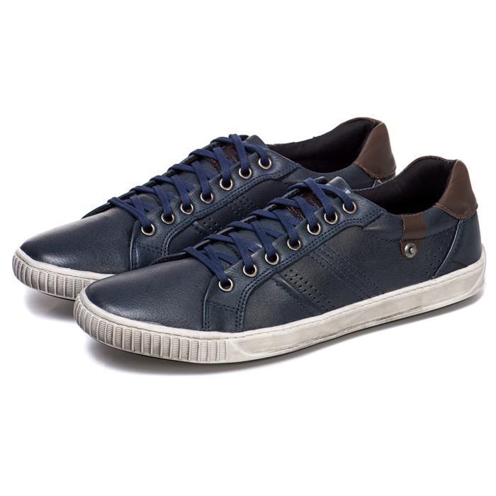Sapatênis Gregorio Napa Soft com Cardaço Azul 1050