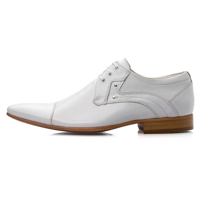 Sapato Branco Bigioni 376 Italiano Branco Bico Fino