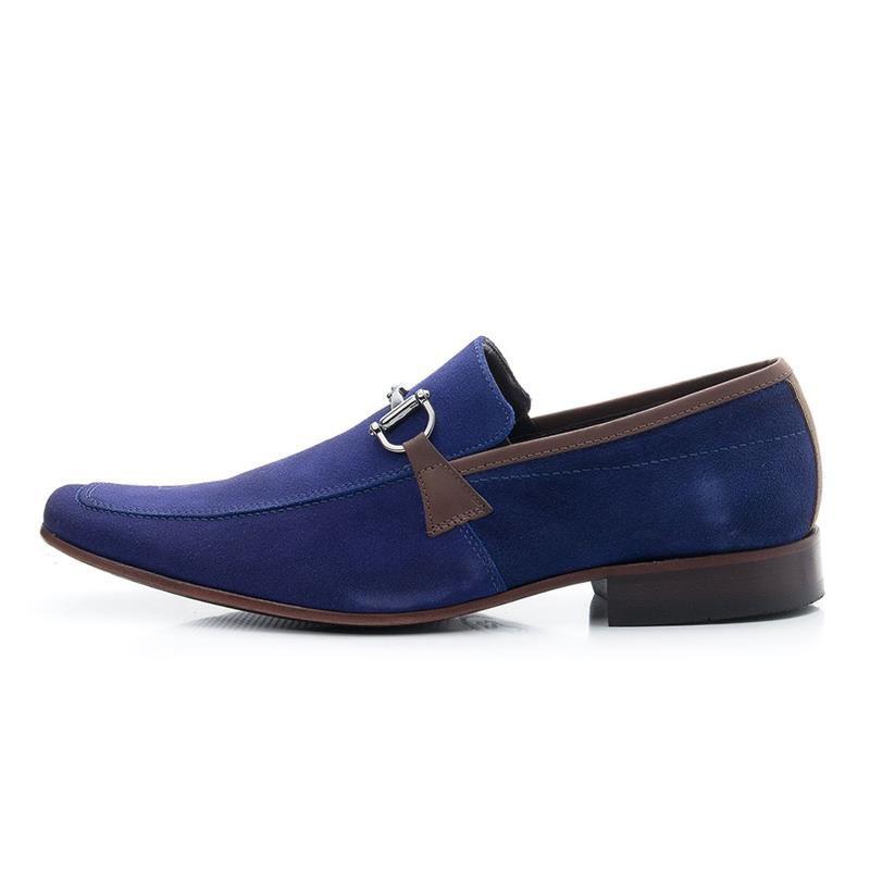 Sapato Casual Bigioni Masculino 404 Nobuck Azul