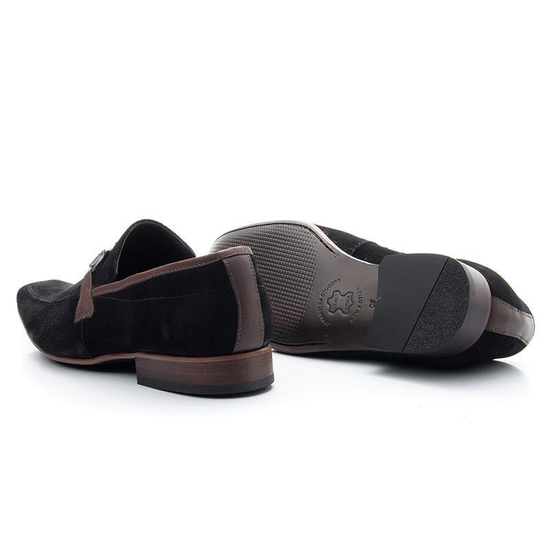 Sapato Casual Bigioni Masculino 404 Nobuck Preto