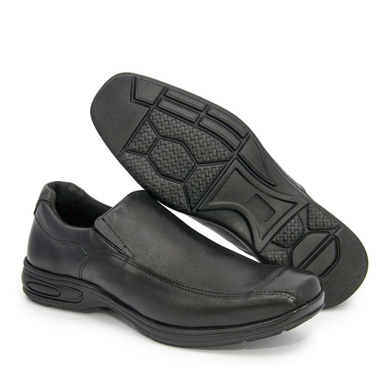 Sapato Masculino BR2 Social Comfort Liso 452 Preto