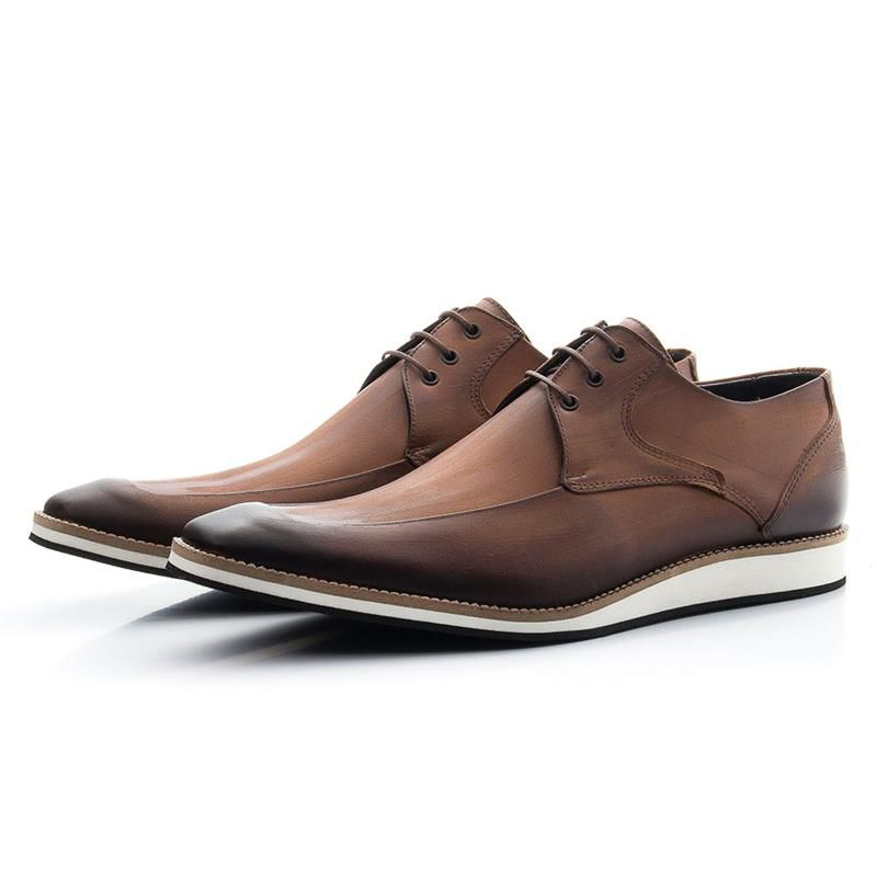 Sapato Oxford em Couro 363 Whisky