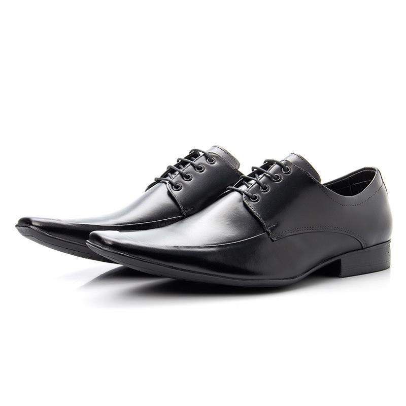 Sapato Social Bigioni 157 Preto Com Cadarço