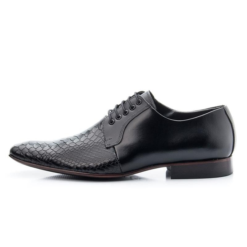 Sapato Social Bigioni 306 Escamado Preto