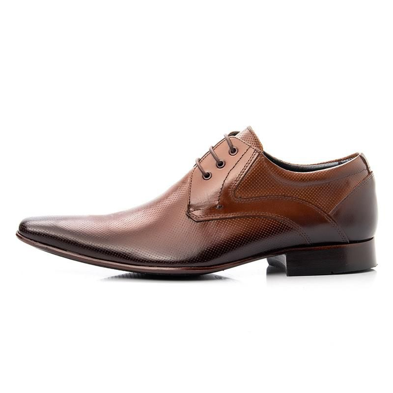 Sapato Social Bigioni 379 Whisky Microfuros