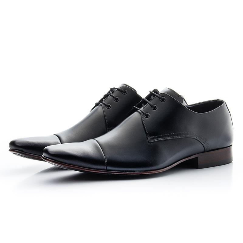 Sapato Social Biogini Com Cadarço 307 Preto