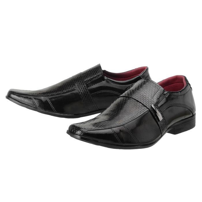 Sapato Social Verniz Bico Fino Tipo Italiano Preto