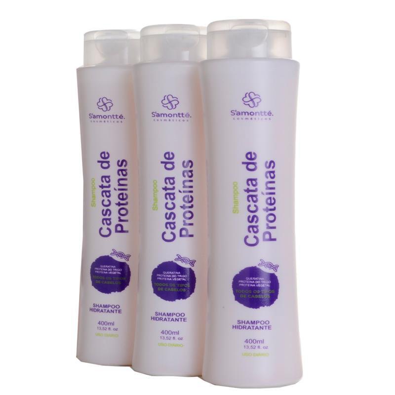 Shampoo S'amontté 3 unidades - Selecione a fragrância