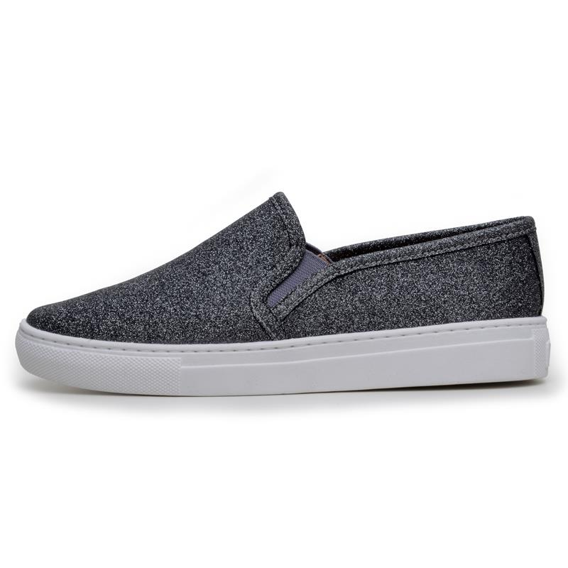 Tênis Feminino Casual DuduDias10 Slip On Baixo Diamante Metal